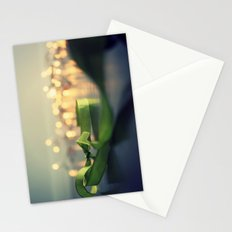 christmas ribbon bokeh Stationery Cards