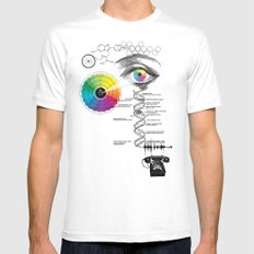 seeing, hearing and knowing White MEDIUM Mens Fitted Tee