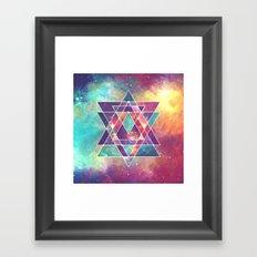 Sacred Geometry (Connection) Framed Art Print