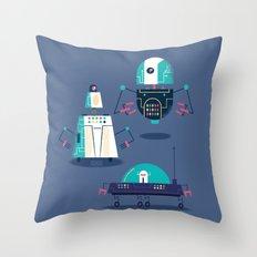 :::Mini Robot-Nanoi::: Throw Pillow