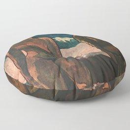 Gauguin Exhibition poster Paris 1960 Floor Pillow