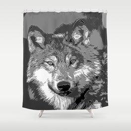 Wolf20151104 Shower Curtain