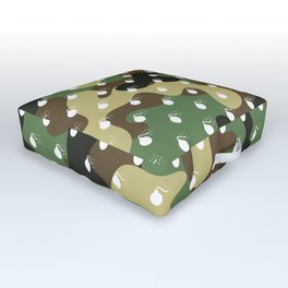CAMO & WHITE BOMB DIGGITYS ALL OVER LARGE Outdoor Floor Cushion
