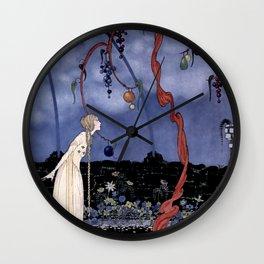 """""""Rosalie's Tree"""" by Fairy Artist Virginia Sterrett Wall Clock"""