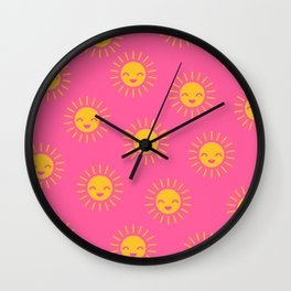 Litlle Sunshine (pink 2) Wall Clock