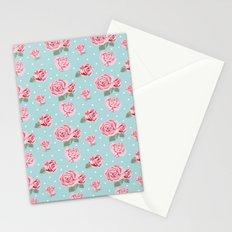 Modern Vintage Elegant Rose Stationery Cards