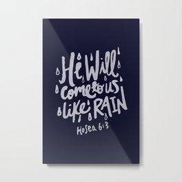 Hosea 6: 3 x Navy Metal Print