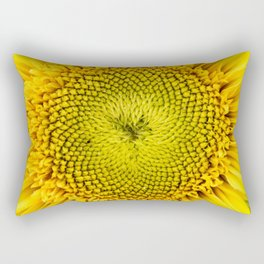 Teddy Bear Sunflower Center Rectangular Pillow