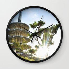 Shot in Japantown Wall Clock