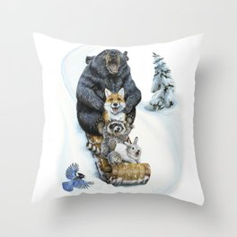 The Big Hill Throw Pillow