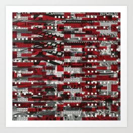 Nothing Is Accomplished (P/D3 Glitch Collage Studies) Art Print