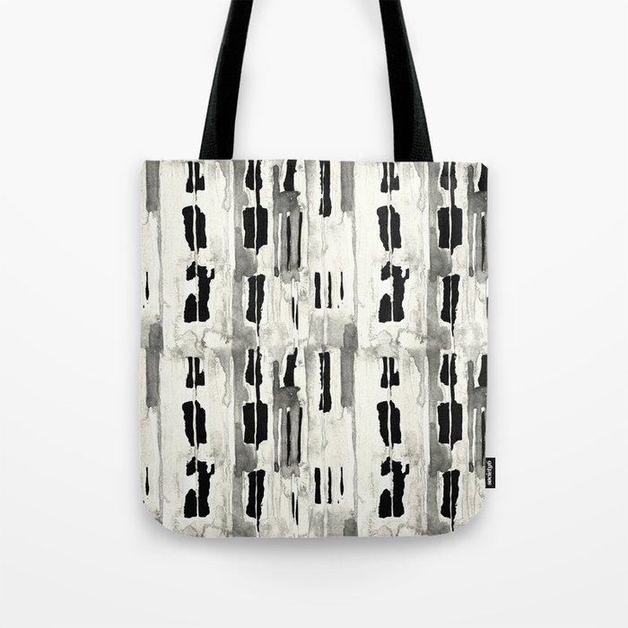 Minimal Black and Cream Abstract Design Tote Bag