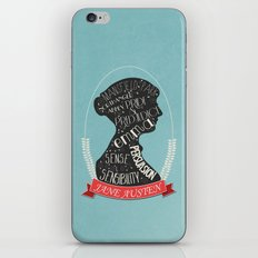 Jane Austen Silhouette Portrait iPhone & iPod Skin