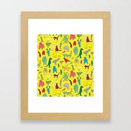 alphabet animals Framed Art Print