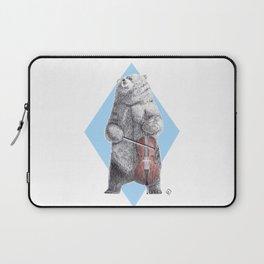 Cellist bear Laptop Sleeve