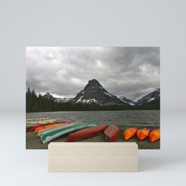 Two Medicine Lake With Sinopah Mountain Mini Art Print