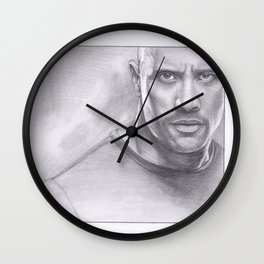 Dwayne Johnson - The Rock Wall Clock