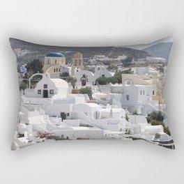 Santorini Island  Rectangular Pillow