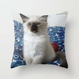 Lucy The Cat and Litle Brother  1 Throw Pillow