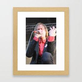 Dennis Lyxzén of Refused Framed Art Print