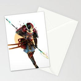 Samurai Moon Stationery Cards