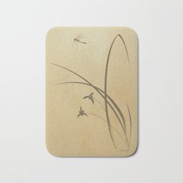 Orchid and Dragonfly Bath Mat