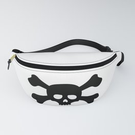 Simple Black Skull and Crossbones Fanny Pack