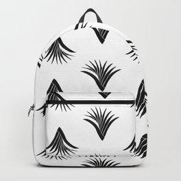 Pandanus Leaf Pattern - Black Backpack