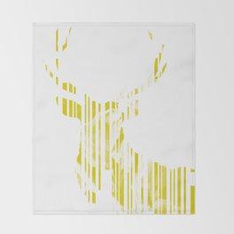 Geometric Yellow Stag Throw Blanket
