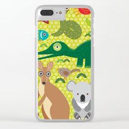 Animals Australia snake, turtle, crocodile, alliagtor, kangaroo, dingo Clear iPhone Case