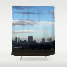 Fort Worth Skyline Shower Curtain