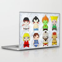 street fighter Laptop & iPad Skins featuring A Boy - Street fighter by Christophe Chiozzi