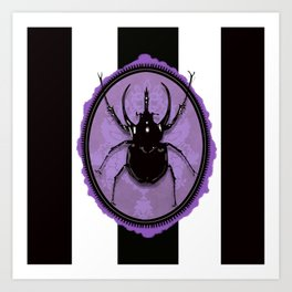 Juicy Beetle PURPLE Art Print