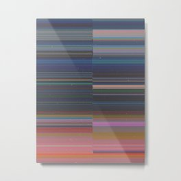scanner stripes Metal Print