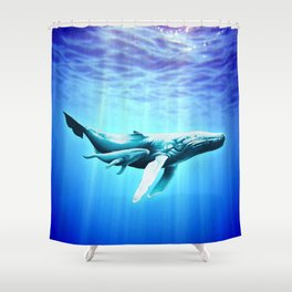 Whales for Gus Shower Curtain