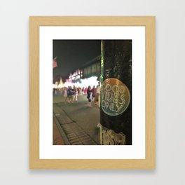 Good Vibes on Bourbon Street Framed Art Print