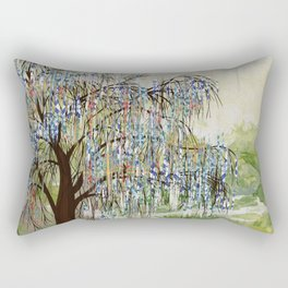 Willow Tree Abstract digital art  composition Rectangular Pillow