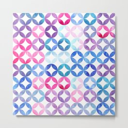 Geometric pattern with petals. Turkish pattern. Metal Print