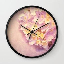 HYDRANGEA VINTAGE Wall Clock