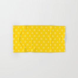 Yellow Gamer Pattern Hand & Bath Towel