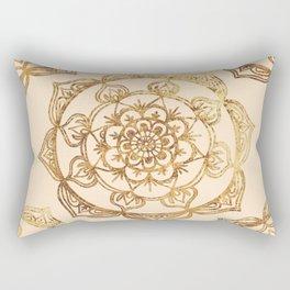 Gold & Cream Mandalas Rectangular Pillow