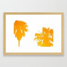 backyard palms Framed Art Print