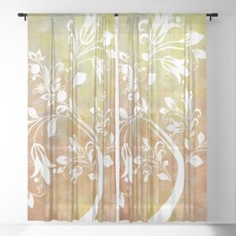 Whimsical Tree Sheer Curtain