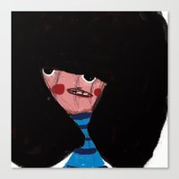 charmaine olivia Canvas Prints featuring olivia by pixtre