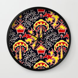 Batik : Central Borneo Motifs Wall Clock