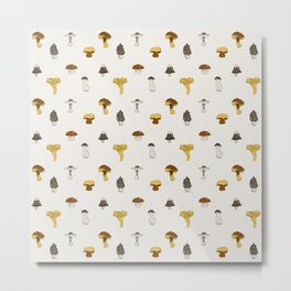Mushroom Glaze Metal Print
