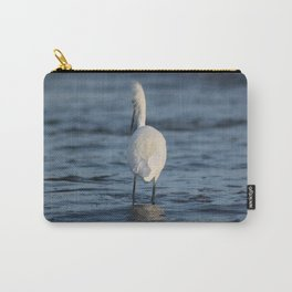 Snowy Egret Blowing in the wind Carry-All Pouch