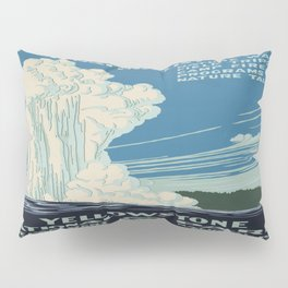 Vintage poster - Yellowstone Pillow Sham