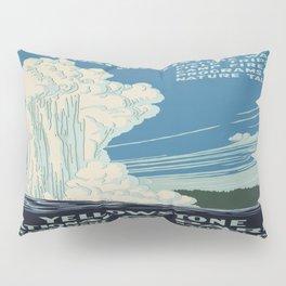 Vintage poster - Yellowstone Pillow Sham