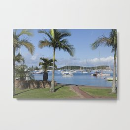 Boats in the Bay Metal Print